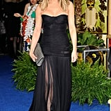 Jennifer attended Just Go With It's NYC premiere in a smokin' hot sheer-skirted Dolce & Gabbana gown. The dress was so stunning, Jennifer smartly kept everything else ultrasimple, accessorising with perfectly tousled curls and a custom Burberry clutch.