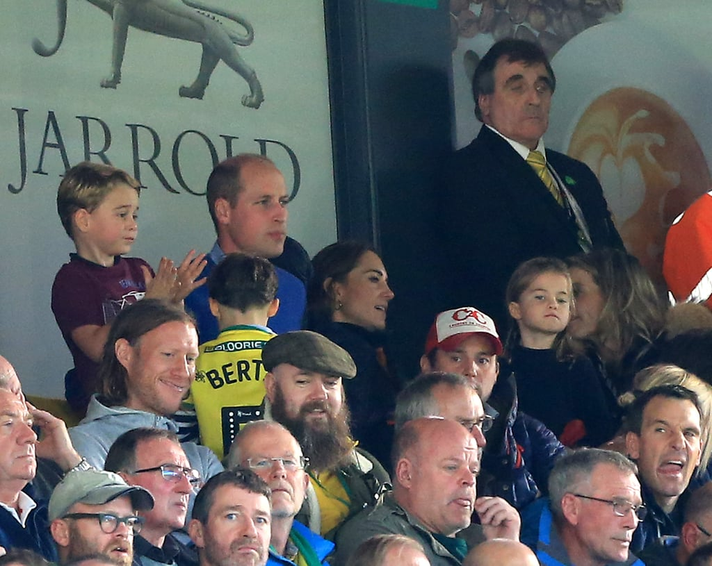 When He and His Family Took in a Premier League Match From the Stands