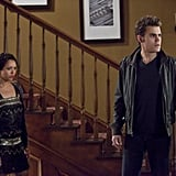 Kat Graham as Bonnie and Paul Wesley as Stefan on The Vampire Diaries. Photo courtesy of The CW