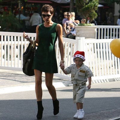 Victoria Beckham and Her Son Cruz Beckham Shopping at the Grove in LA