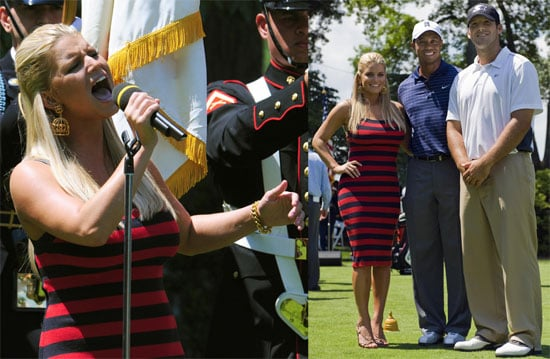 Photos of Jessica Simpson and Tony Romo at AT&T National PGA Golf Tournament