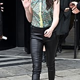 Kristen Stewart went to the Balenciaga Fall 2012 show in March 2012.