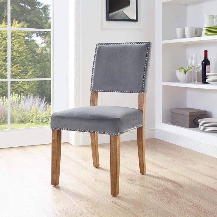 Restaurant Chairs Cheap: Modern Farmhouse Velvet Upholstered Dining Chair