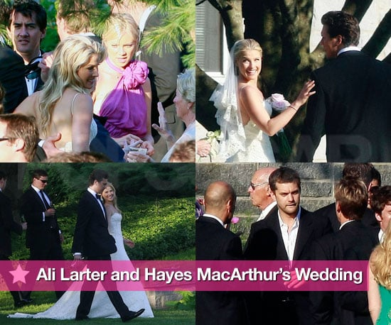 Photos of Ali Larter and Hayes MacArthur's Celebrity Wedding in Maine