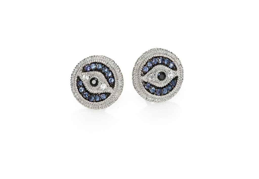 1a5bced50 Judith Ripka La Petite Multicolor Sapphire & Sterling Silver Evil Eye Stud  Earrings ($325)