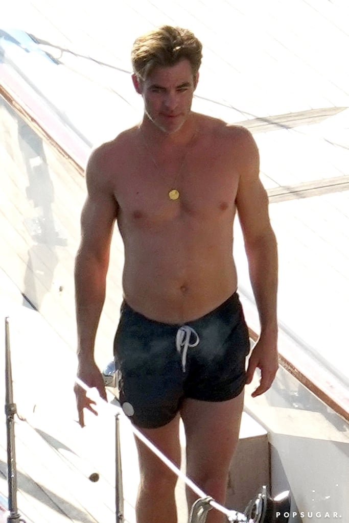 chris pine shirtless in italy pictures august 2018 popsugar celebrity