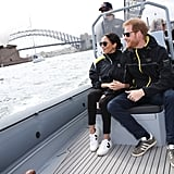 Meghan Traded Her Heels For Veja Sneakers For a Cruise Around the Sydney Harbor