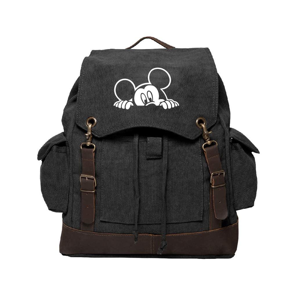 Mickey Mouse Peeking Canvas Rucksack