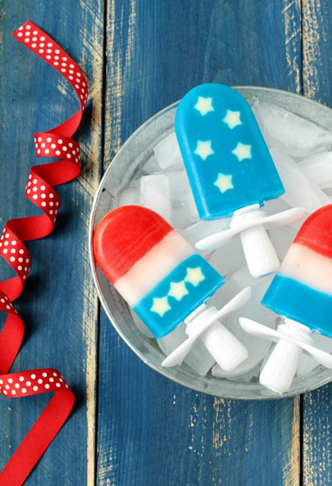 Red, White, and Blue Quick Pops