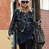 Nicole Richie Leaves a Workout in Lots of Leather