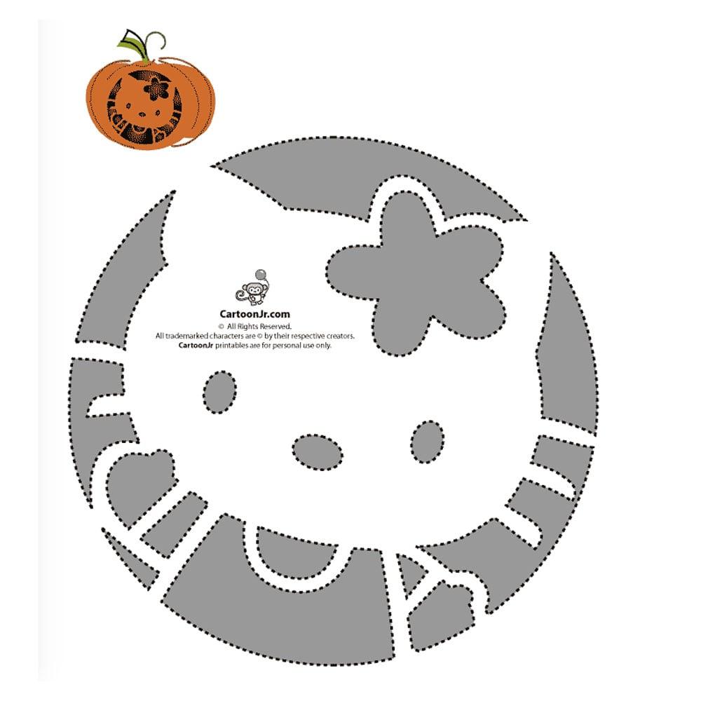 free hello kitty pumpkin templates popsugar tech photo 21