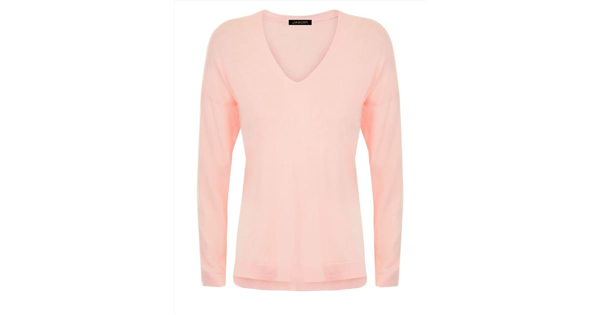 Jaeger Silk Cotton Sweater Pantone 2016 Rose Quartz Fashion Popsugar Fashion Uk Photo 22