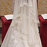 The veil had lace trim.
