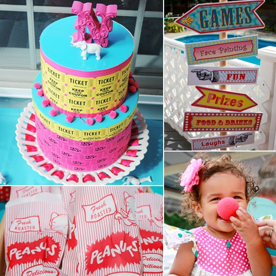 A Colorful Summer Circus First Birthday Party