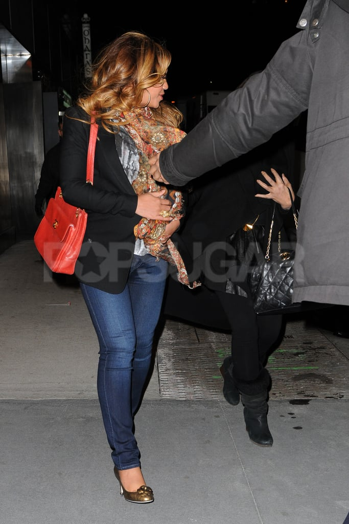 Beyoncé Knowles out and about in NYC.