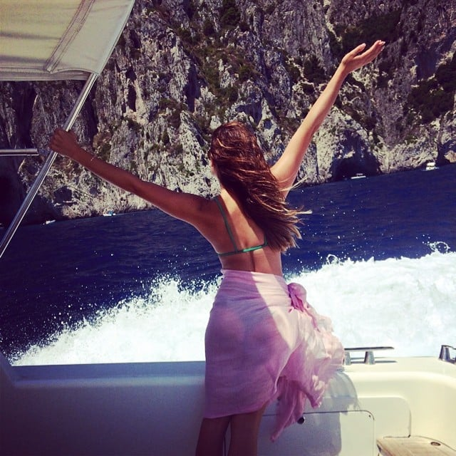 Lea took in the sights in Italy with open arms.  Source: Instagram user msleamichele