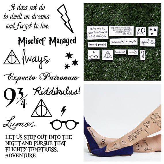 Harry Potter Temporary Tattoo Set ($10)