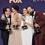 Andrew Scott, Phoebe Waller-Bridge, Sian Clifford, and Brett Gelman at the 2019 Emmys