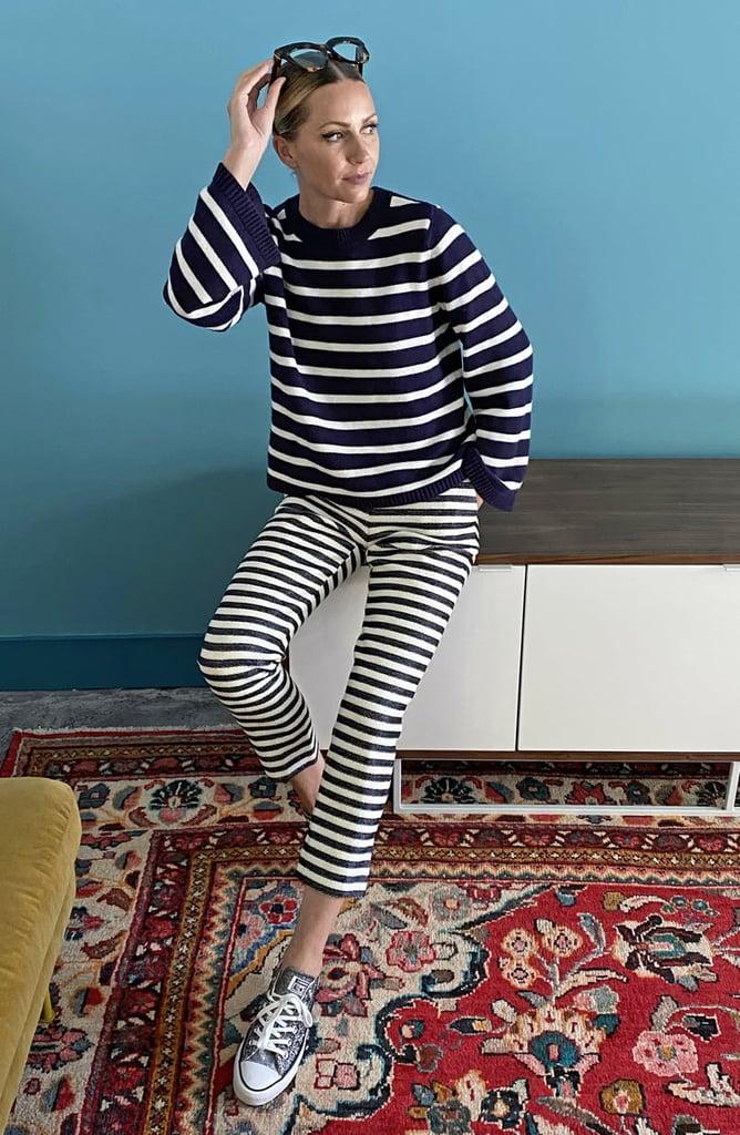 Halogen® x Atlantic-Pacific Stripe Oversize Sweater