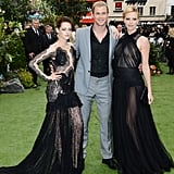 Sexy Charlize and Kristen Link Up With Their SWATH Costars For a London Premiere
