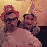 """Happy 31st Birthday to my great love @jackantonoff,"" Lena wrote with this photo. ""I am awed by you every day, and so lucky to be yours."""