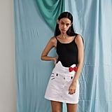 Hello Kitty x Lazy Oaf Denim Skirt ($83)