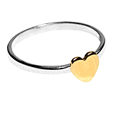 Rodarte x & Other Stories Sterling Silver Heart Ring ($29)