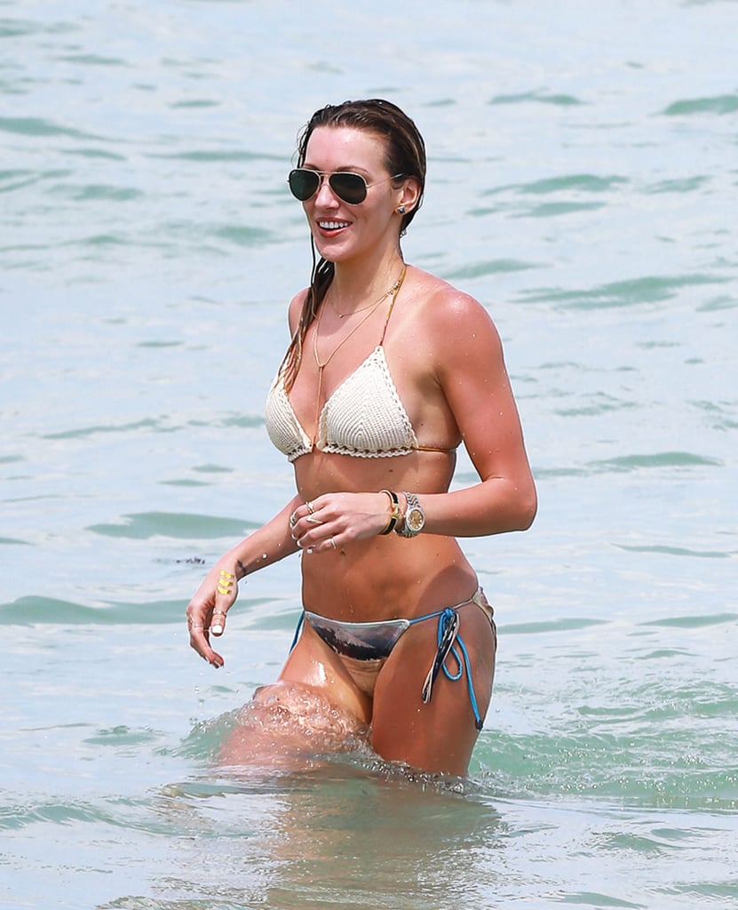 Arrow star Katie Cassidy wasn't afraid to show a little skin during an April 2015 Miami trip.