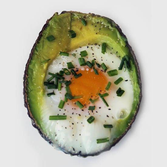 Rezept für gebackene Eier in Avocado