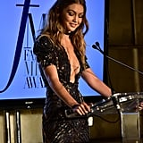 Gigi Hadid Tommy Hilfiger Dress at Fashion Media Awards 2016
