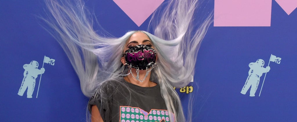 Lady Gaga Wearing an MTV T-Shirt at the 2020 VMAs