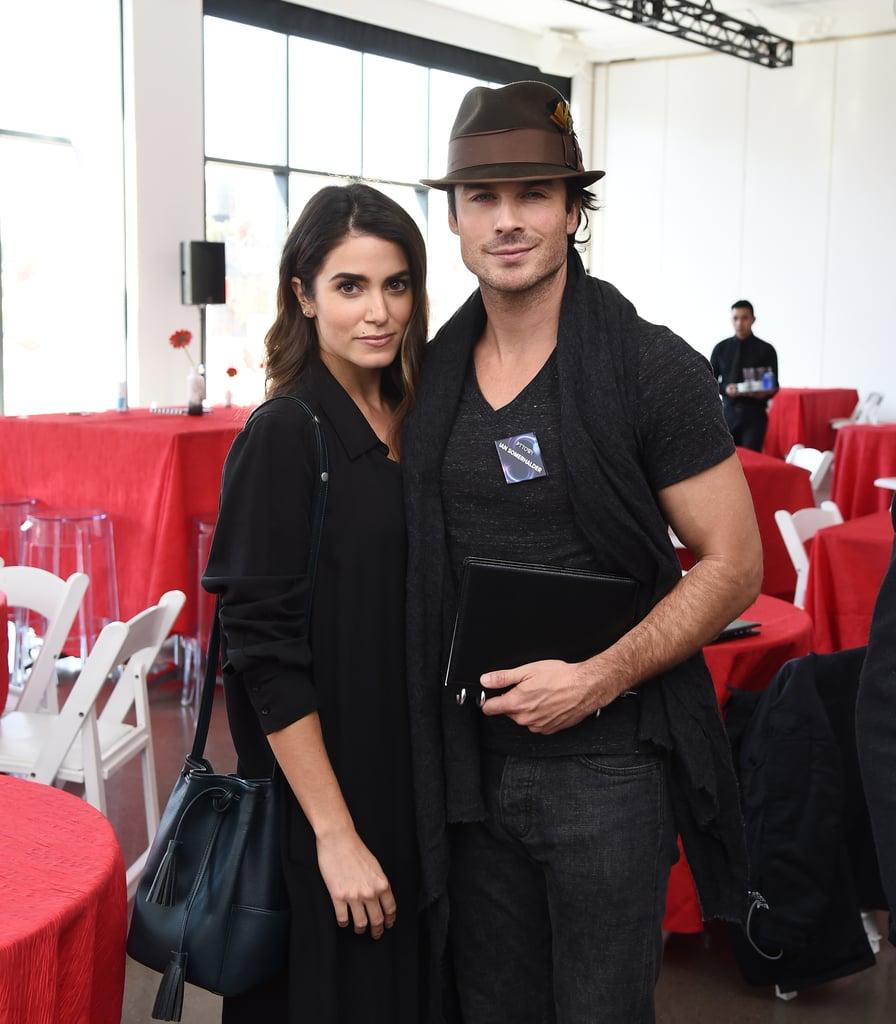 """Ian Somerhalder and Nikki Reed made quite the pair when they attended the PTTOW! Sessions and Worldz Kickoff Party in NYC on Tuesday. Nikki kept things casual in a black trench coat and boots, while Ian did the same in his signature fedora and jeans. The event, which aims to bring creative executives and influencers together, also brought out Zoe Saldana, Charli XCX, and Idina Menzel. The couple's latest appearance comes less than a month after the two attended LA's EMA Awards and Ian's interview with Modern Luxury. In the magazine, The Vampire Diaries star admitted that when it came to falling in love with Nikki, it took him no time at all. He also opened up about wanting kids with Nikki, adding, """"Oh, I will one day have amazing children with my beautiful wife. Absolutely, definitely.""""        Related:                                                                                                           11 Snaps That Show Ian and Nikki Are Completely Head Over Heels For Each Other"""