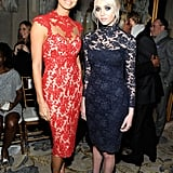 Stacy Keibler and Taylor Momsen at Marchesa
