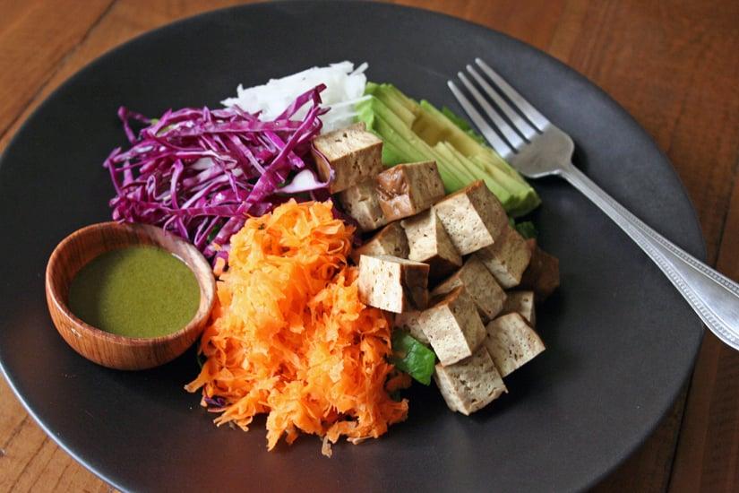 Bento Salad With Matcha-Miso Dressing