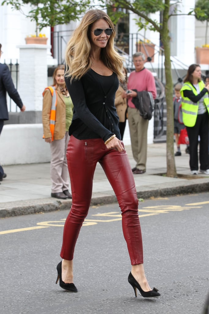 a0e0ba76c649e2 Red leather pants — when done right — are the sexiest things on earth.