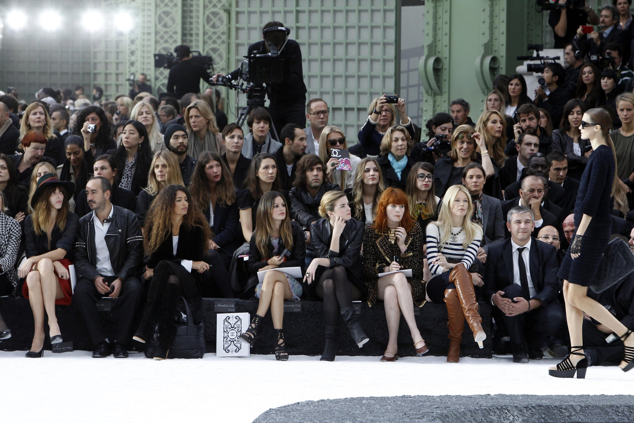 Front Row at Chanel SS 2011