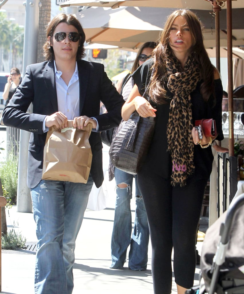 Sofia Vergara and Her Son Manolo Go Italian During Her Time Off