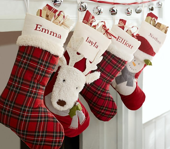 Luxe Velvet Stocking Collection Family Christmas Stocking Sets