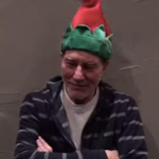 Patrick Stewart Wears a Dancing Christmas Hat 2014