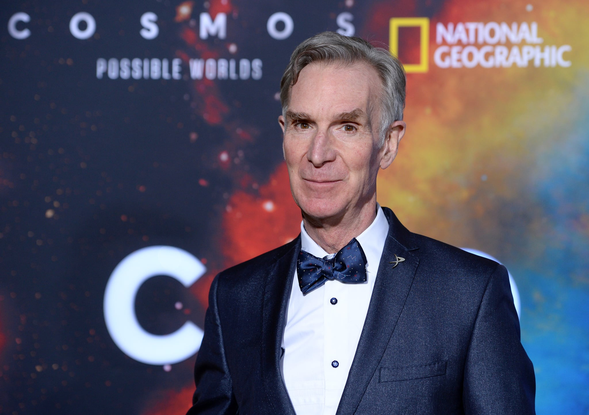 WESTWOOD, CALIFORNIA - FEBRUARY 26: Science communicator Bill Nye arrives at National Geographic's