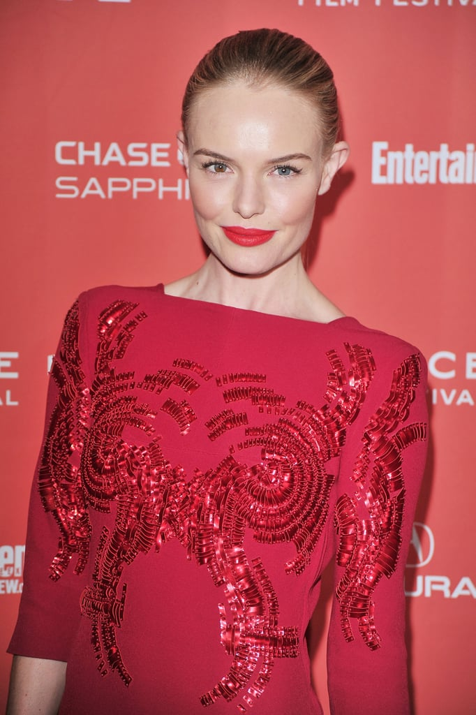 Kate Bosworth was in red at Sundance.
