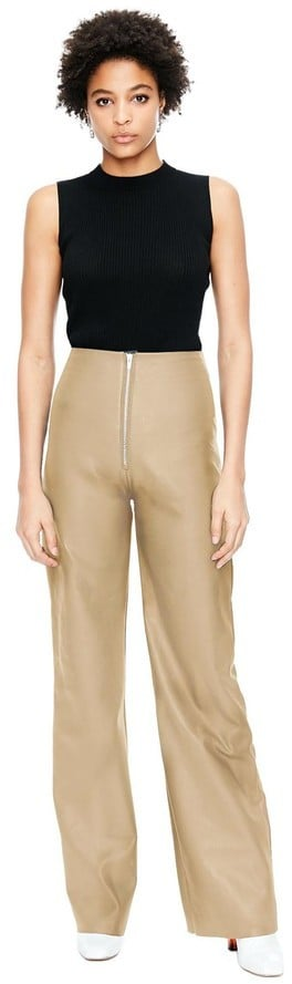 Veda Soul Leather Pant Taupe