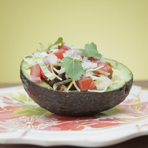 Replace Your Basic Taco With This Protein-Packed Stuffed Avocado