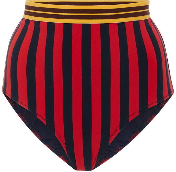 Vertical stripes are slimming, which is why we would recommend wearing this Stella McCartney swim bottom ($140) with your favorite black bikini top.