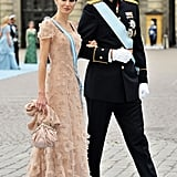 At the wedding of Princess Victoria of Sweden and Daniel Westling in Stockholm in June 2010.