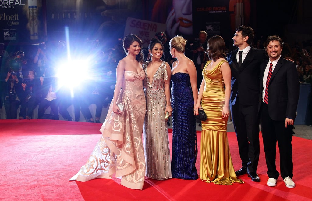 The cast of Spring Breakers faced the flashing cameras in 2012.
