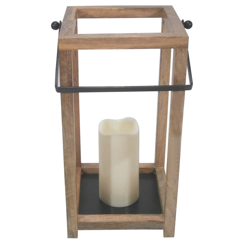 Threshold Outdoor Wood Lantern
