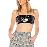 I Am Gia Patent Crop Top