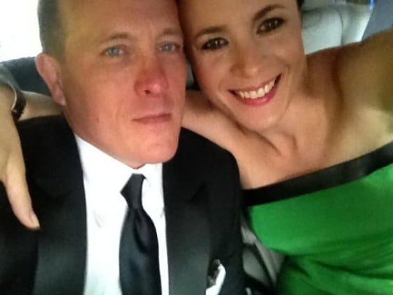Awwww. Garance Doré and beau Scott Schuman make a good looking pair. Love that Derek Lam frock!