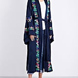 Free People Floral-Embroidered Kimono